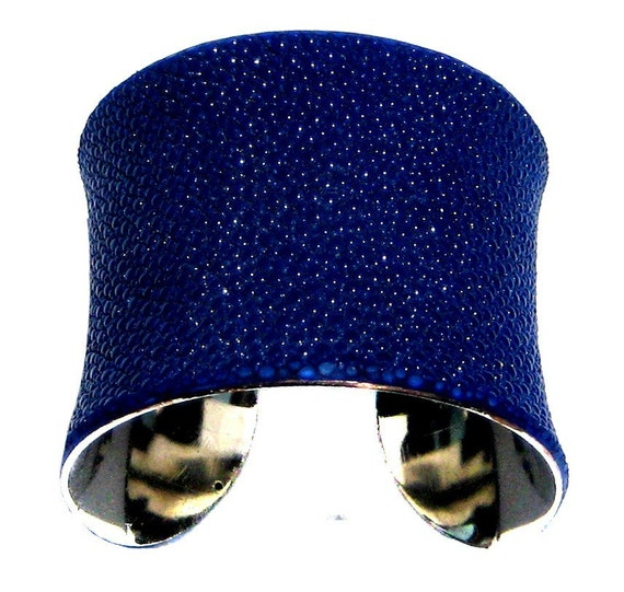 Stingray Leather Cuff Bracelet in Bright Cobalt Blue  - by UNEARTHED