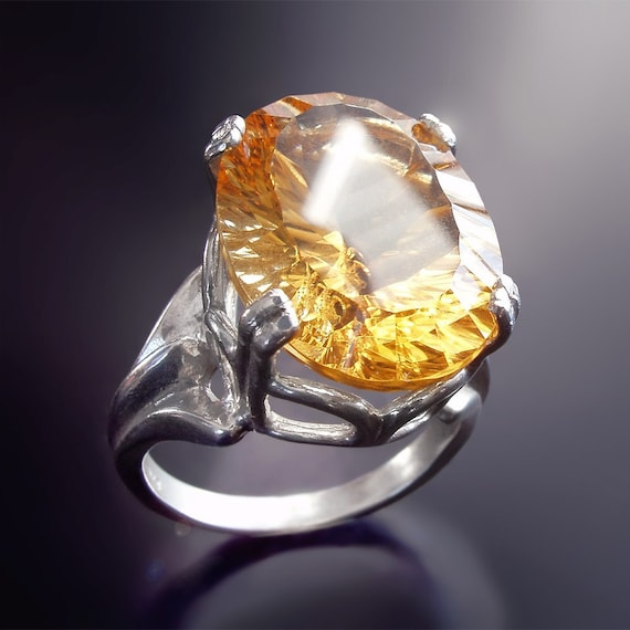 """Citrine and Sterling Silver Cocktail Ring - """"Let Them Eat Cake Ring Collection"""""""