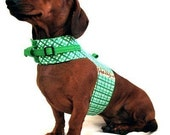 Eco Dog Harness - Renewable Green Plaid Cotton - Large