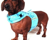Eco Dog Harness - Renewable Blue Moons Stars Cotton - Small