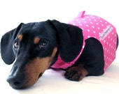Eco Dog Harness - Renewable Pink Hearts Cotton - Small