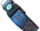 Eco Pet Collar - Blue Paisley Necktie