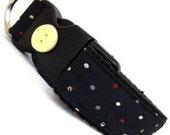 Eco Pet Collar - Recycled Navy Dot Necktie