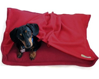 Eco Pet Bed -  Recycled Red Fleece