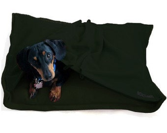 Eco Pet Bed - Recycled  Green Fleece