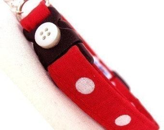 Eco Cat Collar - Renewable Red Dot Cotton