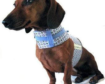 Eco Dog Harness - Renewable Purple Dot Cotton - Medium