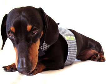 Eco Dog Harness - Navy Blue Check - Small
