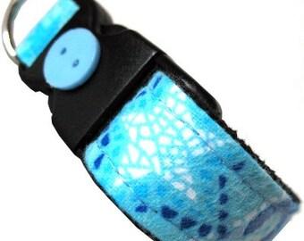 Eco Dog Collar - Renewable Blue Moons Stars Cotton