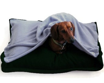 Eco Pet Bed - Recycled Green Blue Fleece