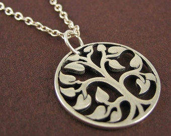 Sterling Silver Tree of Life Necklace Nature Jewelry Tree Charm Necklace for Modern Jewelry Lovers