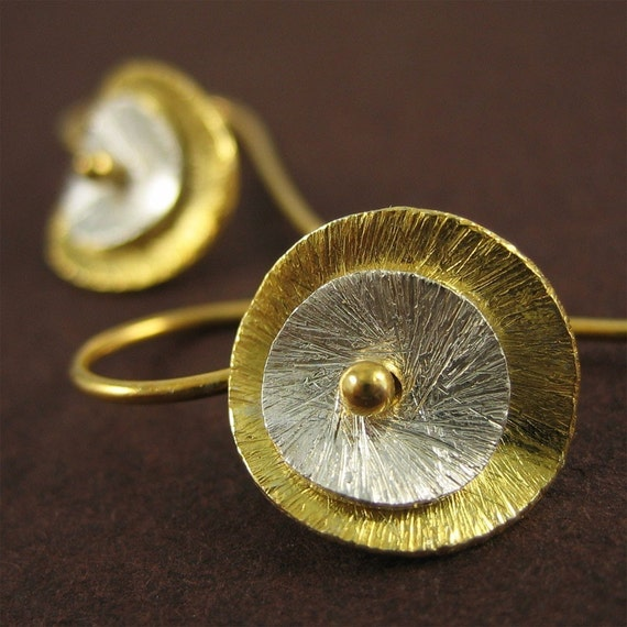 DeeDee Earrings - Silver and Gold Ensemble - medium
