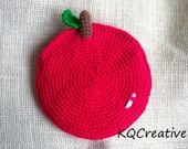 Crochet Coin Purse - Red Apple