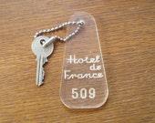 50s 60s HOTEL DE FRANCE Key Fob