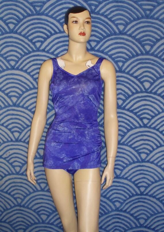 PURPLE PINUP 60s Maillot Swimsuit M L SALE