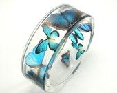 Blue Butterflies Bracelet /  size m