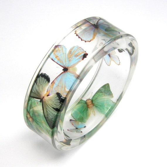 Light blue and green  Butterflies Bracelet
