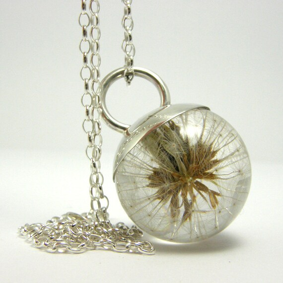 Dandelion Resin and Silver Necklace, May