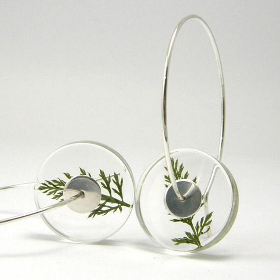 Alcee Yarrow, Floral Resin Earrings