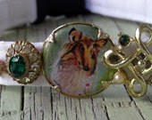 Half Price Sale White Foo Foo Dog Collar with Sheltie