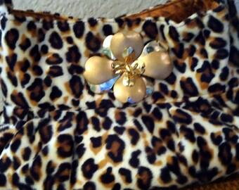 Sale Margaux Handbag in Faux Leopard Fur