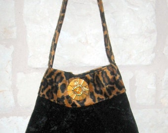 Half Price Sale SlouTchy BaG in in Leopard and Black