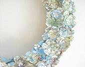 Wreath, home decor, map, travel, wedding decoration