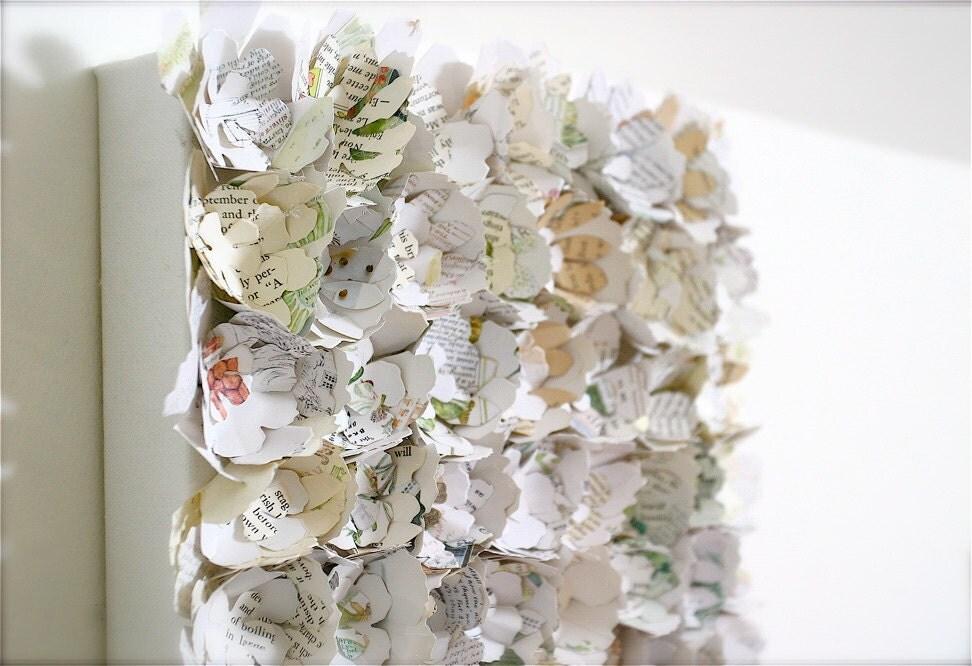 Items similar to paper flower wall art canvas garden for 3d garden decoration