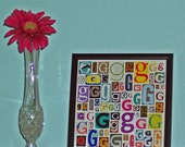 Letter G - Art Print of Alphabet Collage Series