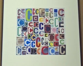 Letter C - Art Print of  Alphabet Collage Series
