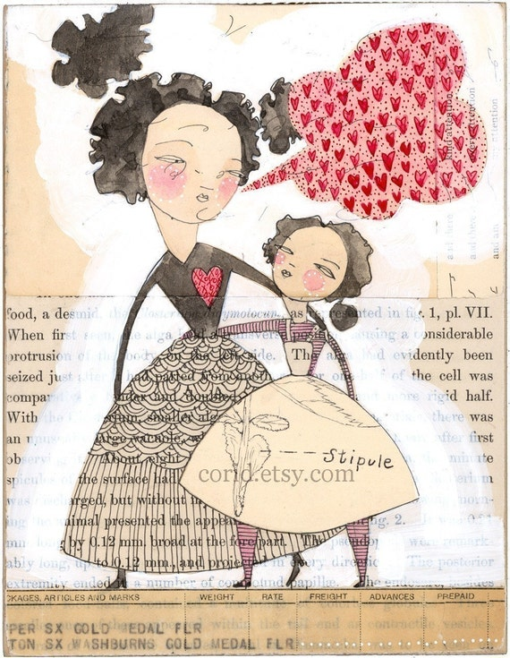 a heart to heart...an  8 x 10 limited edition archival print by cori dantini