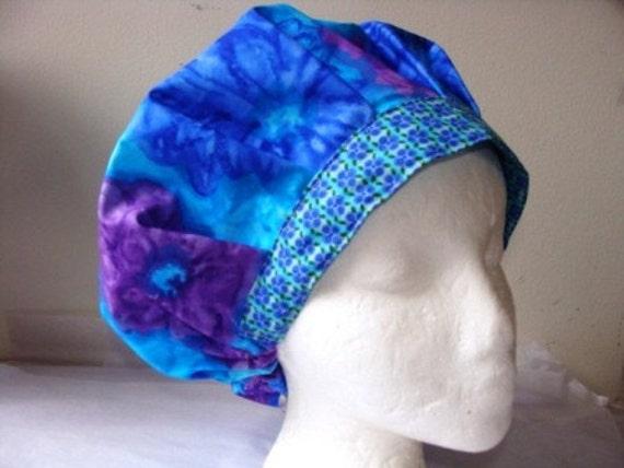 Monet's Garden Bouffant...........................Surgical Hat......Bakers Hat