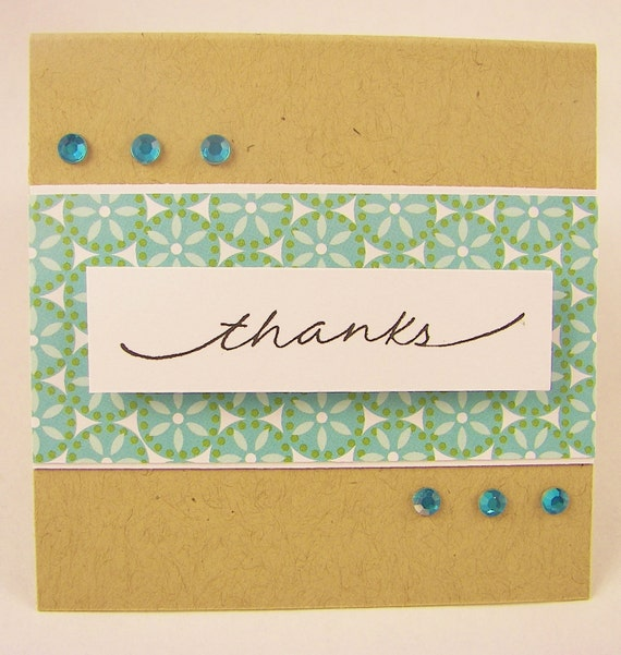 Thanks -3x3 Note Card