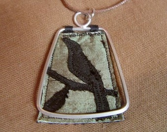 Silk Raven Necklace