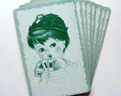 Mint Vintage Flashcards - Set of 8