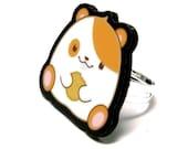 Hamster Charm Ring
