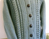 Aran Hooded Childs Jacket-Ready to Ship