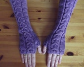 ARMWARMERS/FINGERLESS GLOVES/Extra Long Bilberry-Purple-Violet Ladies-Womens Fingerless Gloves-Arm Warmers-Ready to Ship