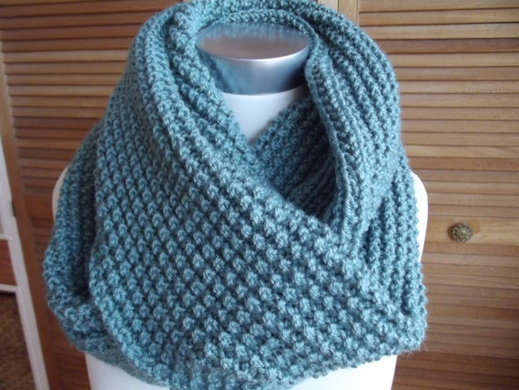 Sea Green Infinity Scarf/Cowl-Ready to Ship
