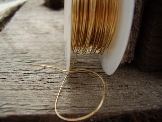 28 Gauge non-tarnish brass wire - 10 feet