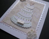 Happy Wedding Day Cake Card