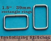 15 Pieces 1.5 Inch / 39mm Metal Wire-Formed Rectangle Rings (available in nickel and antique brass finish)