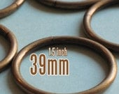 48 Pieces 1.5 inch / 39mm O Rings (available in Nickel, Antique brass, and Gold color finish)