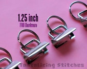 30 1.25 inch Key Fob Hardware Kit Set (32mm) - available in nickel and antique brass finish