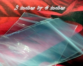600 - Clear Recloseable Poly Bags (available in 3x4, 3x5, 3x6, 4x6, and 5x7 size)
