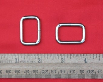 30 pieces 1 Inch / 26mm Metal Wire-Formed Rectangle Rings (available in nickel and antique brass finish)