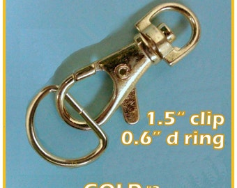 40 Sets 1.5 Inch Swivel Clips with Matching D Ring (available in nickel, antique brass, gun metal and gold color finish)