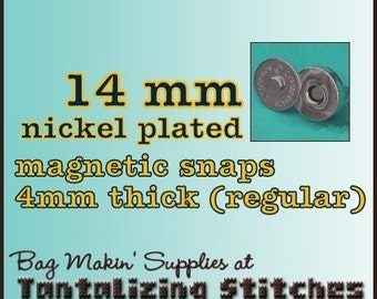 67 Sets Pronged 14 mm Magnetic Snap Closures (available in nickel, and antique brass)