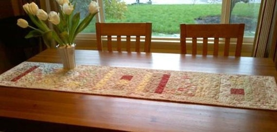 Handmade Table Runner Paris Flea Market Quilt FREE SHIPPING