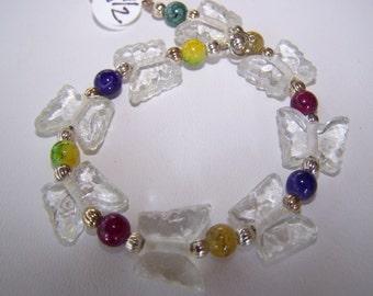 BUTTERFLY KISSES-Adorable 8 1/2 inch Bracelet/Anklet